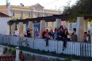 Mirador de Santa Lucía en el barrio Alfama de Lisboa