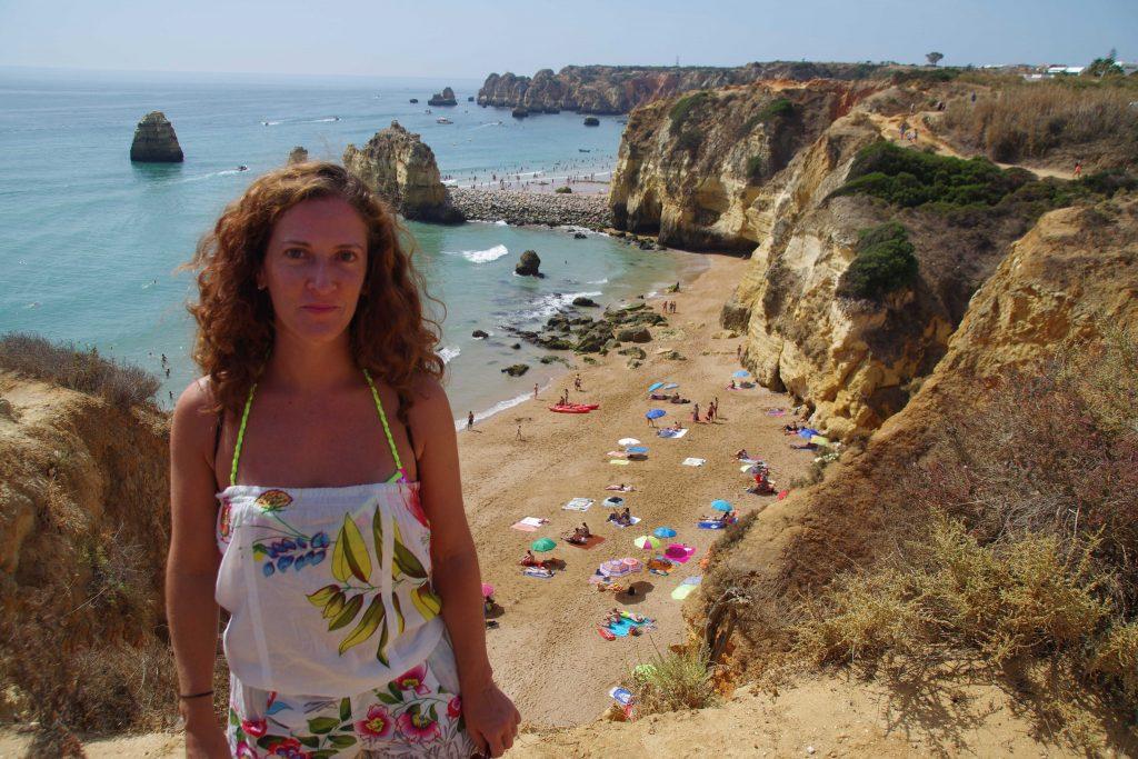 Playa de Doña Ana en Lagos, Algarve. Portugal