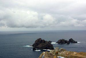 Rocas frente al Cabo de Ortegal.
