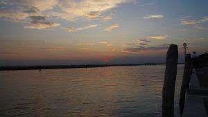Atardecer en Torcello. Vistas a la Laguna de Venecia.