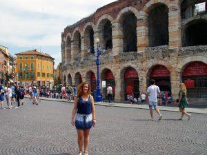 En la Piazza Bra, el anfiteatro Arena es uno de los mejor conservados.