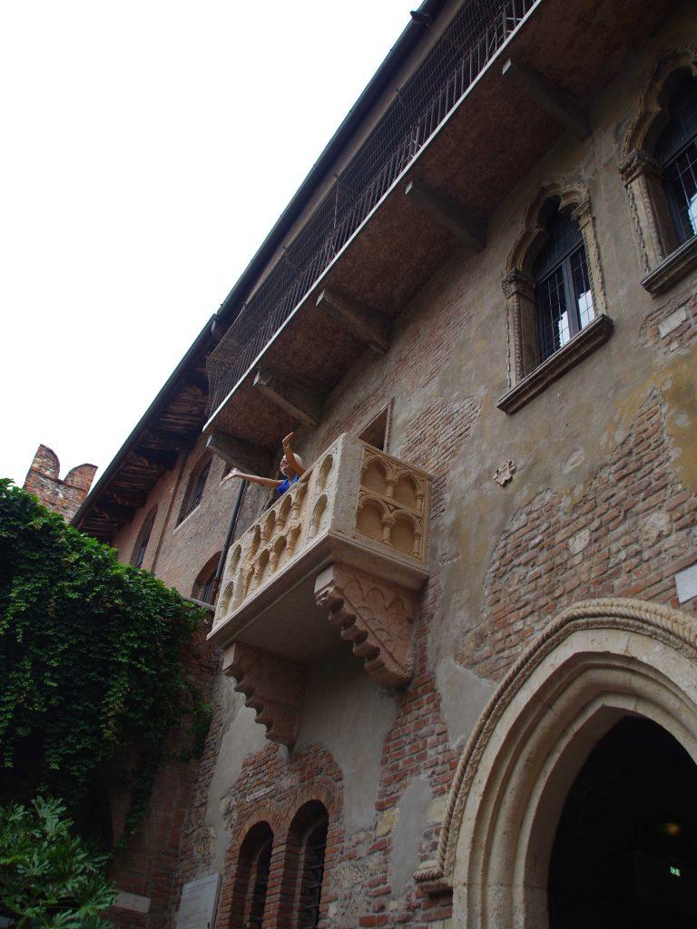 Balcón de la casa de Julieta.