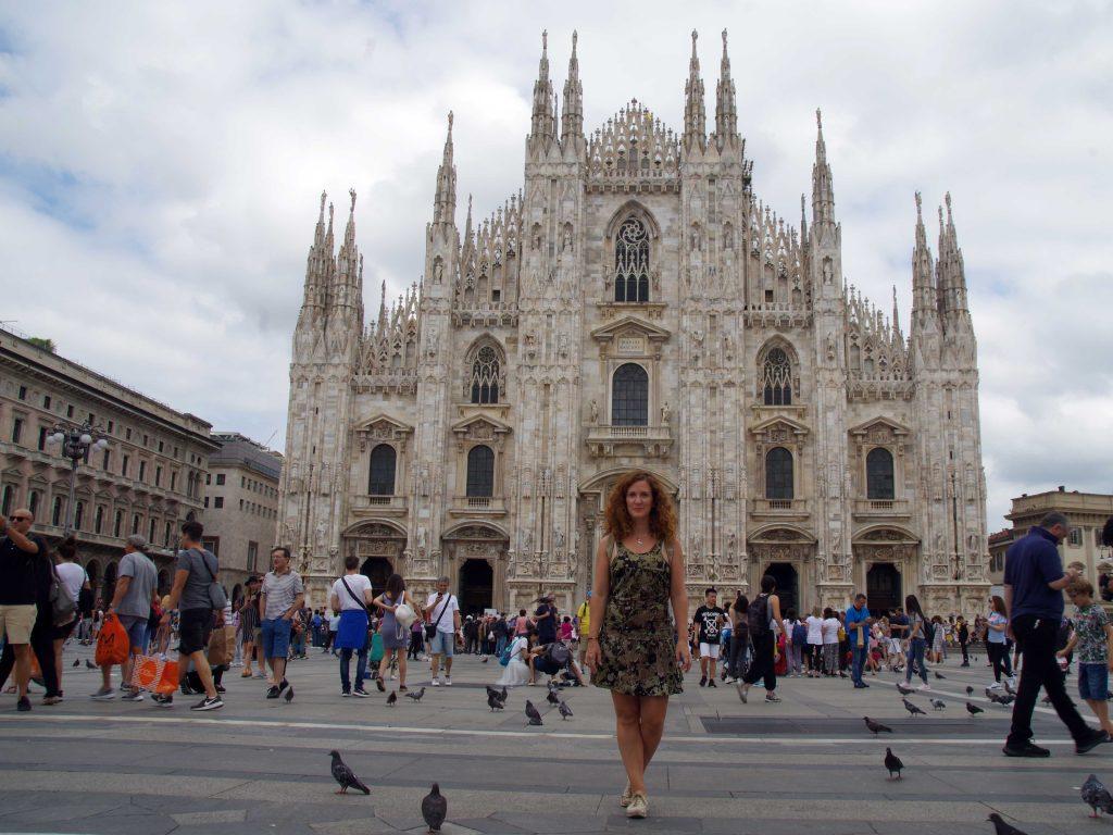 Vista de la Catedral de Milán. Ruta por Italia