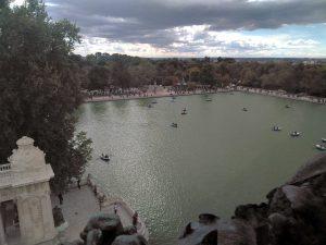Vistas del Lago del Retiro en Madrid