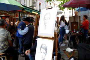 El barrio de pintores en Paris, Montmatre