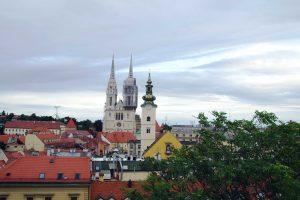 panorámica desde mirador de la catedral de Zageb