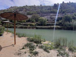 La playa en Jorquera, uno de los pueblos más bonitos de Albacete